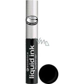 Essence Liquid Ink Eyeliner očné linky odtieň čierna 3 ml