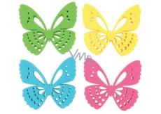 Motýľ z filcu dekorácie 6 cm v krabičke 12 kusov