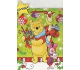 Nekupto Dárková papírová taška velká 33 x 26 x 13 cm Medvídek Pú vánoční 1187 WLGL
