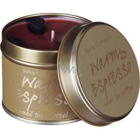 Bomb Cosmetics Teplé Espresso Vonná prírodné, ručne vyrobená sviečka v plechovej dóze horí až 35 hodín