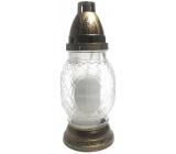 Lampa sklenená Kríž 24cm K-672