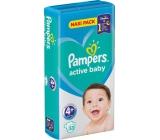 Pampers Active Baby 4+ Maxi Plus 10-15 kg plienkové nohavičky 53 kusov
