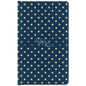 Albi Deluxe Bloček Zlaté bodkami linajkový, tmavomodrý 9,5 cm x 15,5 cm x 1,5 cm