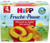 Hipp 100% Ovocie Bio Jablká s broskyňami 4x100g 1632