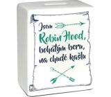 Albi Pokladnička keramická tehlička Robin Hood 11,8 x 10 x 5 cm