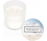 Heart & Home Svieža bielizeň Sójová vonná votívny sviečka v skle doba horenia až 15 hodín 5,8 x 5 cm
