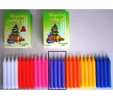 Romantické světlo Vánoční svíčky krabička hoření 90 minut fialové 12 kusů