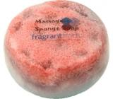 Fragrant Famous Glycerínové mydlo masážne s hubou naplnenou vôňou parfumu Lady Gaga Fame vo farbe černo-oranžové 200 g