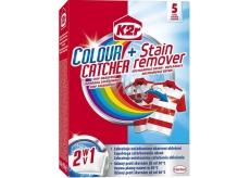 K2r Colour Catcher + Stain remover Stop zafarbenie + odstraňovač škvŕn 5 kusov