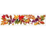 Okenné fólie bez lepidla pruh s jesenným lístím 59 x 15cm č.2