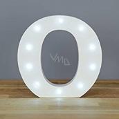 Nekupto Dřevěné LED písmeno O dekorace 16 cm