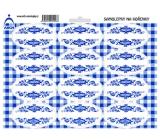 Arch Samolepky na kořenky s modrým ornamentem Bez názvu - k dodatečnému popisu (např. pro čaje, speciální koření) 0101