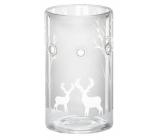Yankee Candle Frosty skleněná čirá stříbrná aromalampa 15 x 8 cm