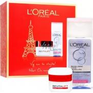 Loreal Paris Revitalift denný krém proti vráskam 50 ml + micelárna voda pre normálnu a zmiešanú pleť 200 ml, kozmetická sada