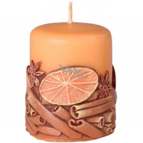 Emóciám Škorica Cinnamon vonná sviečka valec 50 x 60 mm