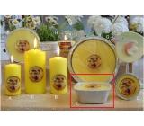 Lima Citronela svíčka proti komárům vonná repelentní žlutá zahradní čtverec 190 g