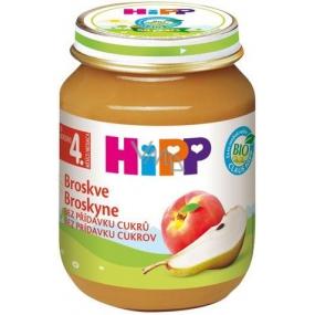 Hipp Ovocie Bio Broskyne ovocný príkrm, znížený obsah laktózy a bez pridaného cukru pre deti 125 g