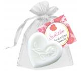 NeoCos Srdiečko biele darčekové toaletné mydlo v organze 30 g