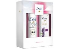 Dove Acai olej sprchová pena pre ženy 200 ml + Invisible Dry Clean Touch dezodorant antiperspirant sprej pre ženy 150 ml, kozmetická sada