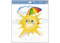 Okenné fólie ručne maľovaná slniečka, dáždnik 30 x 30 cm