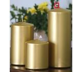 Lima Metal Serie svíčka zlatá válec 80 x 200 mm 1 kus