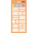 Arch Samolepky do domácnosti Pastelový set oranžový 3568 12 etiket