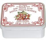 Le Blanc Fruits Rouges - Červené ovoce přírodní mýdlo tuhé v krabičce 100 g