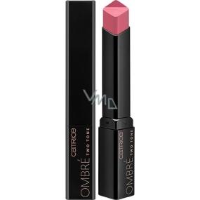 Catrice Ombré Two Tone Lipstick rúž 010 Rockabily Rosewood 2,5 g