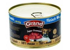 Grand Super Premium Mäsová zmes pre psov 98% mäsa 405 g
