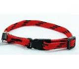 B & F Obojok Nylon červeno-čierny 1,0 x 18 - 28 cm