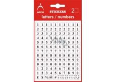 Arch Samolepicí číslice 0-9 v blistru + bonus, výška 5 mm 2 archy