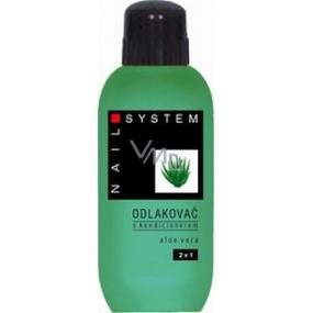 Nail System Aloe Vera s kondicionérem odlakovač na nehty 100 ml