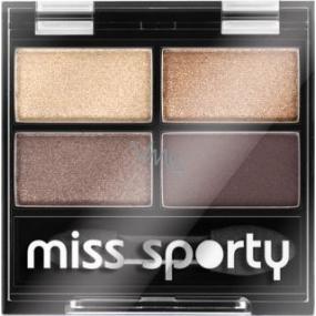 Miss Sporty Studio Colour Quattro očné tiene 403 Smoky Brown Eyes 3,2 g