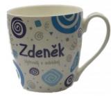 Nekupto Twister hrnek se jménem Zdeněk modrý 0,4 litru 082 1 kus