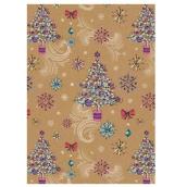 Ditipo Vánoční balicí papír For Future stromeček typ 2 100 x 70 cm 2051912 2 kusy