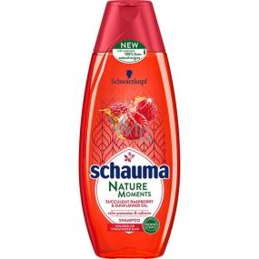 Schauma Nature Moments šťavnatý malina a slnečnicový olej pre ochranu farby a lesk šampón na vlasy 400 ml