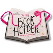 If Gimble Adjustable Bookholder Držák na knihu Cestovní růžový 340 x 240 x 20 mm