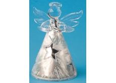 Anjel sklenený s hviezdou na postavenie 8 cm