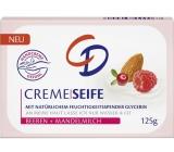 CD Mandľový olej a Malina glycerínové toaletné mydlo 125 g
