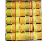 Ditipo Stuha látková s drôtikom žltá neón 3 mx 25 mm
