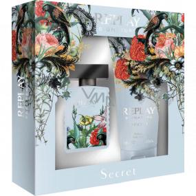 Replay Signature Secret Woman toaletná voda pre ženy 30 ml + telové mlieko 100 ml, darčeková sada