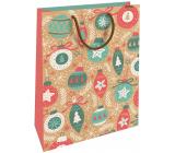 Nekupto Darčeková Kraftová taška 28 x 37 cm Vianočné ozdoby 608 WKHL