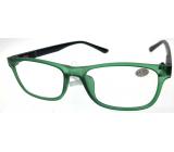 Berkeley Čítacie dioptrické okuliare +1,0 plast zelené, čierne bočnice 1 kus MC2184