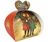 English Soap White Christmas - Biele Vianoce prírodné parfumované toaletné mydlo s bambuckým maslom 3 x 20 g