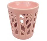 Aromalampa porcelánová ružová 13 cm