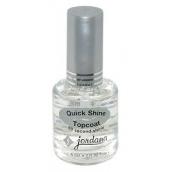 Jordana Vrchní lak, zvýrazňovač lesku nehtů Quick Shine Topcoat 413 15 ml