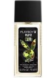 Playboy Play It Wild for Him parfémovaný deodorant sklo pro muže 75 ml