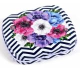 Albi Miniplechovka Kvety čiernobiele pruhy 5 x 6 x 1,4 cm