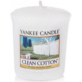 Yankee Candle Clean Cotton - Čistá bavlna vonná svíčka votivní 49 g