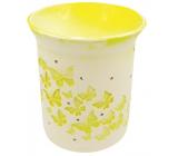Aromalampa porcelánová s žltými motýlikmi 11 cm